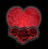Tatoo delle rose e del cuore Immagini Stock