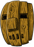 Mascherina di legno Fotografia Stock Libera da Diritti