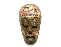 Mascherina di legno intagliata Fotografie Stock