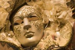 Mascherina di lusso dell'oro da Venezia Immagine Stock