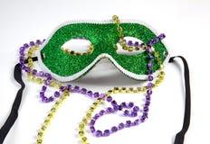 Mascherina di Mardi Gras con i branelli Fotografia Stock Libera da Diritti