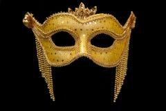 Mascherina di Mardi Gras dell'oro fotografia stock libera da diritti