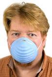 Mascherina di polvere da portare dell'uomo Fotografie Stock