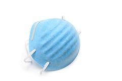 Mascherina di polvere isolata sopra bianco Fotografia Stock