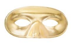 Mascherina dorata di carnevale Immagini Stock Libere da Diritti