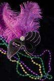 Mascherina e branelli di Mardi Gras Fotografia Stock Libera da Diritti