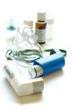 Mascherina ed apparecchiatura di respirazione per il amphecema Immagini Stock