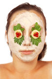 Mascherina facciale variopinta isolata Fotografia Stock
