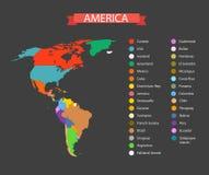 Mascherina infographic della mappa di mondo Fotografia Stock Libera da Diritti