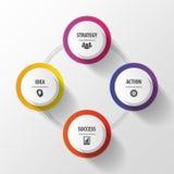 Mascherina infographic di affari moderni Concetto con i bottoni illustrazione di stock
