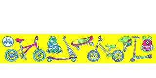mascherina Insieme delle merci di sport per i bambini Illustrazione di vettore Fotografia Stock Libera da Diritti
