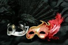 Mascherina misteriosa di carnevale fotografie stock libere da diritti