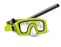 Mascherina per l'illustrazione di vettore di sport di immersione subacquea Immagine Stock