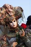 Mascherina sul carnevale, piazza San Marco, Venezia, Italia Fotografia Stock Libera da Diritti