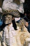 Mascherina veneziana di carnevale Immagini Stock