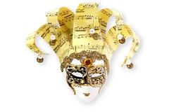 Mascherina veneziana dorata Fotografie Stock Libere da Diritti