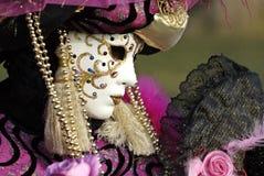 Mascherina veneziana (profilo) Fotografia Stock