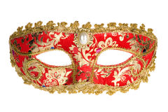 Mascherina veneziana rossa di carnevale Fotografia Stock