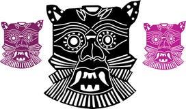 Mascherine azteche Immagini Stock Libere da Diritti