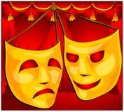 Mascherine del teatro Fotografia Stock