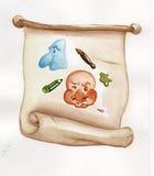 Mascherine della pergamena Fotografia Stock Libera da Diritti
