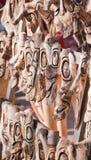 Mascherine di legno tradizionalmente intagliate Fotografie Stock