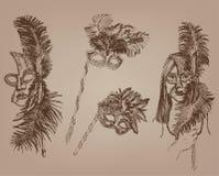 Mascherine di travestimento illustrazione di stock
