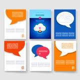 mascherine Insieme di progettazione del web, posta, opuscoli Immagine Stock
