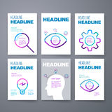 mascherine Insieme di progettazione del web, posta, opuscoli Immagini Stock