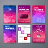 mascherine Insieme di progettazione del web, posta, opuscoli Fotografia Stock
