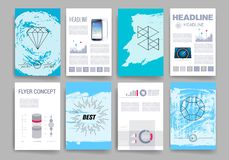 mascherine Insieme di progettazione del web, posta, opuscoli Fotografie Stock Libere da Diritti