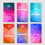 mascherine Insieme di progettazione del web, posta, opuscoli Fotografia Stock Libera da Diritti