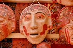 Mascherine Mayan dell'argilla Fotografia Stock