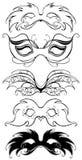 Mascherine nere di carnevale royalty illustrazione gratis