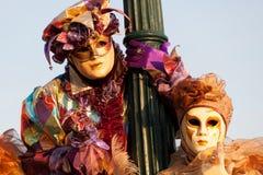 Mascherine sul carnevale, piazza San Marco, Venezia, Italia Immagini Stock Libere da Diritti