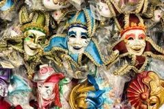 Mascherine variopinte di carnevale di Venezia. Fotografia Stock