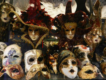 Mascherine veneziane di carnevale Fotografie Stock Libere da Diritti