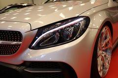 Maschine, die Mercedes angezeigt an der 3. Ausgabe von MOTO-ZEIGUNG in Krakau abstimmt polen Stockfotografie