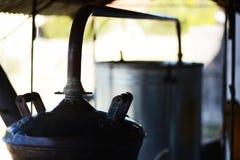 Maschine für die Herstellung des Weinbrands Lizenzfreies Stockbild