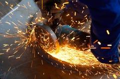 Maschine für reibendes Metall stockfoto