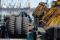 Maschine im Hafen Lizenzfreies Stockbild