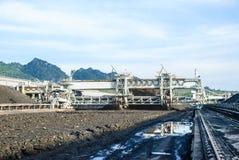 Maschine im Kohlenvorrat Lizenzfreies Stockfoto