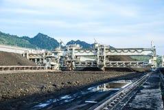 Maschine im Kohlenvorrat Stockfotografie