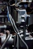Maschine im Schwarzen Stockfotografie