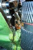 Maschine mit Metallbearbeitungkühlmittel Stockfoto