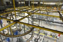 Maschinen eines großen Druckbetriebs - Drucken der Tageszeitung lizenzfreie stockbilder
