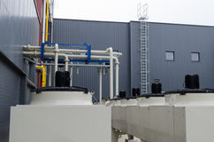 Maschinen erzeugen Biogas Lizenzfreie Stockbilder