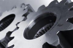 Maschinenanteile an Bläulichem Lizenzfreies Stockfoto