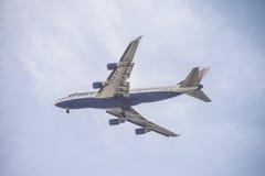 4 MaschinenDüsenflugzeug Lizenzfreies Stockfoto