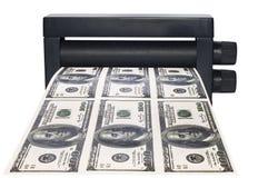 Maschinendruckgeld Lizenzfreie Stockfotos